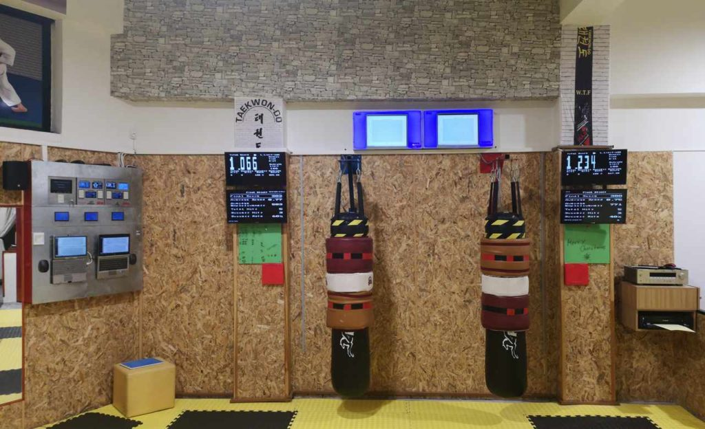 Taekwondo sport club using ergometric center