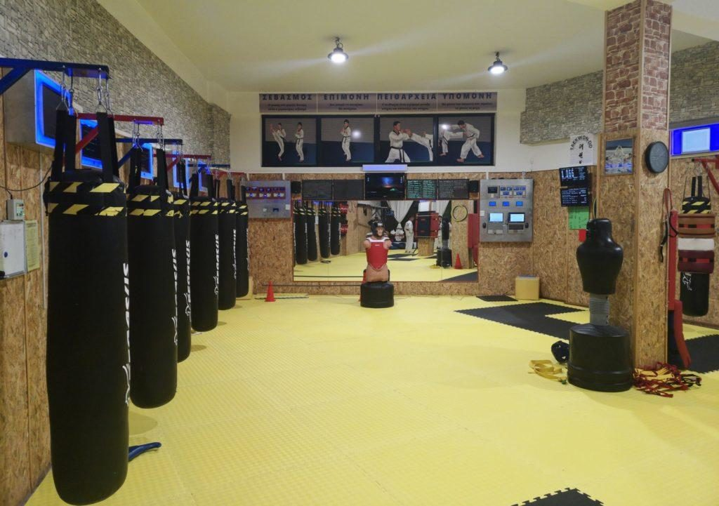Taekwondo Sport Club training in taekwondo using mfs electronic system