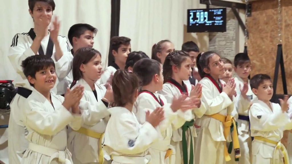 Taekwondo kids playing MFS system